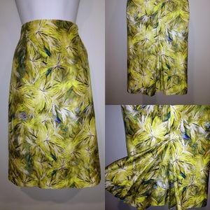 Doncaster Collection silk green pencil skirt sz 10